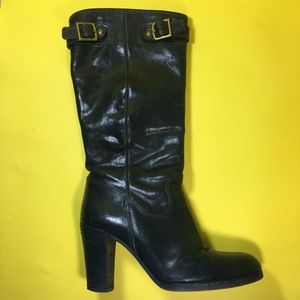 COACH Black Heeled Boots